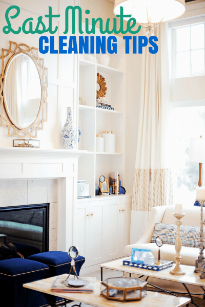 Try these last minute cleaning tips to get your house in order before your next party!