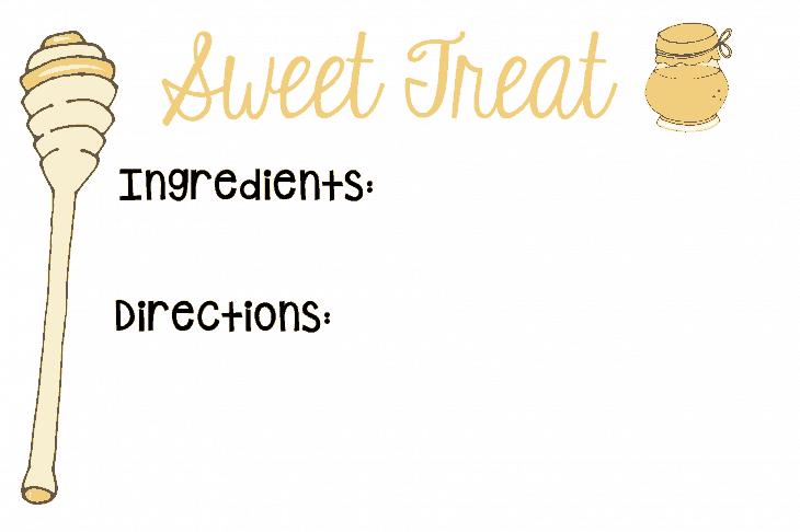 Sweet Treat Recipe Card