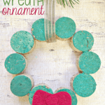 Wine Cork Wreath Ornament