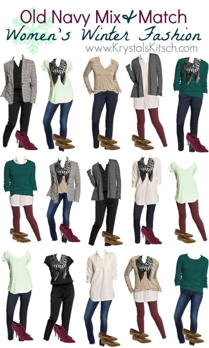Old Navy Women\'s Winter Outfit Ideas