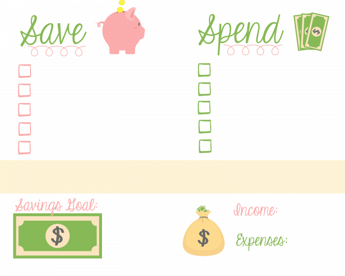Save money and pay off debt with this free budget printable!