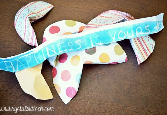 Watercolor Fortune Cookie Craft