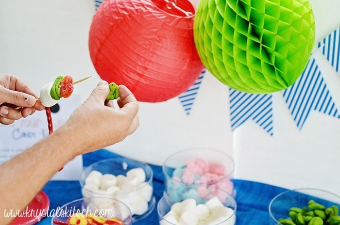 Host a Big Hero 6 Party at the Park and make your own candy kabobs!