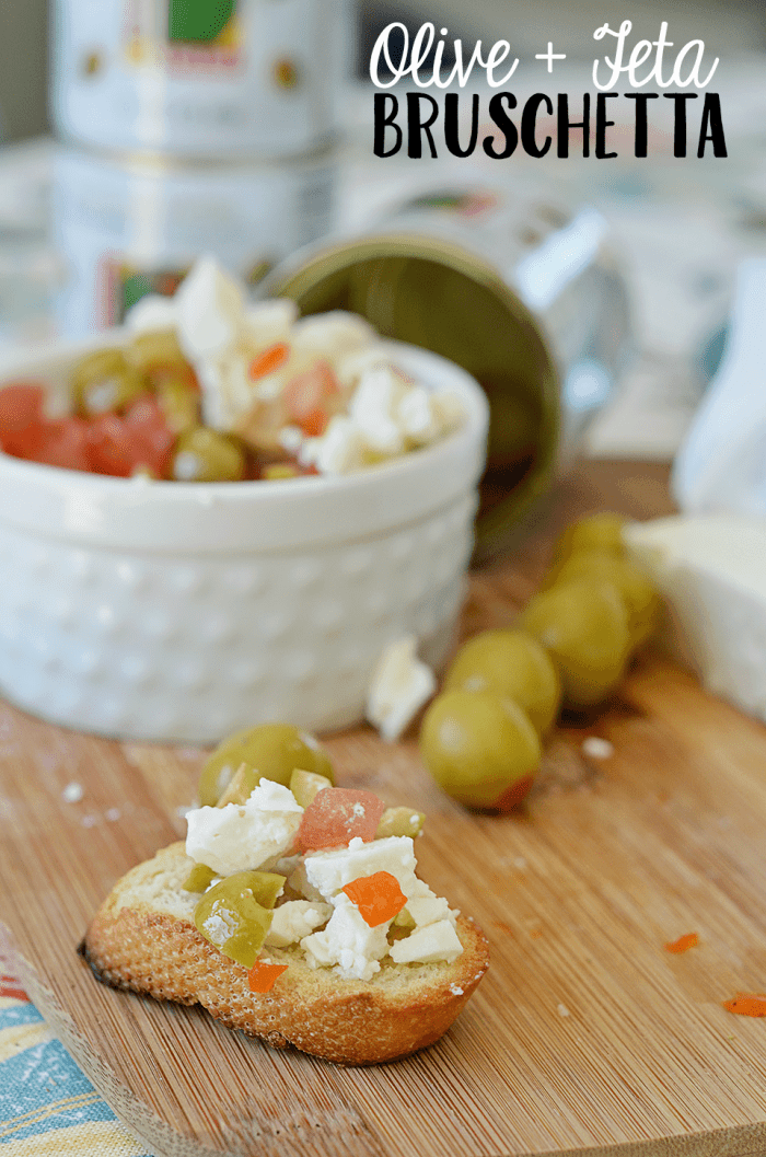 Olive and Feta Bruschetta