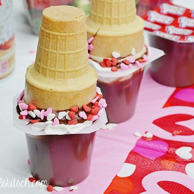 Sweet Strawberry Surprise Pudding