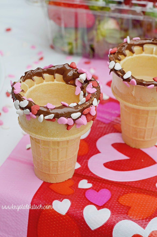 Valentine Ice Cream Cones