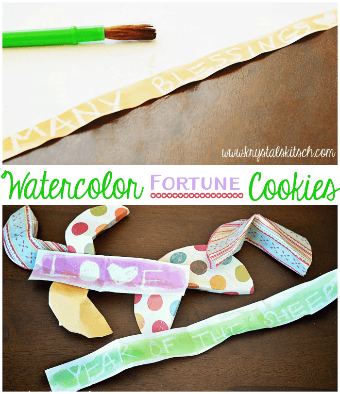 Watercolor Fortune Cookies