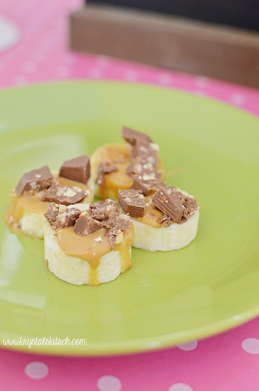 Chocolate Peanut Butter Banana Snacks