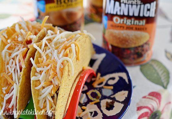 Sloppy Joe Tacos With Cilantro Ranch