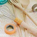 Washi Tape Kitchen Utensils