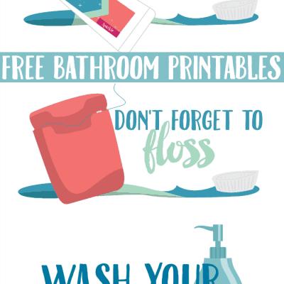 Give Kids A Smile: Free Bathroom Printables