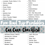 Road Trip Essentials With Free Printables