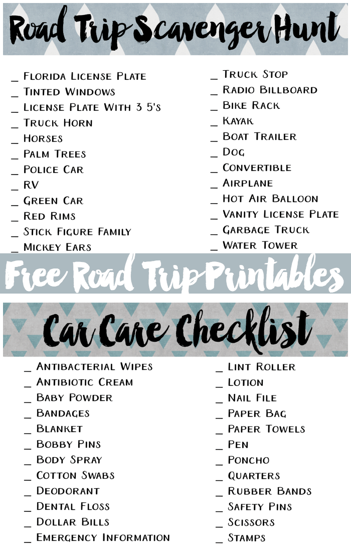 graphic about Road Trip Scavenger Hunt Printable named Totally free Highway Family vacation Printables