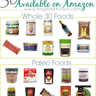 Paleo + Whole 30 Grocery List: Shop at Amazon!