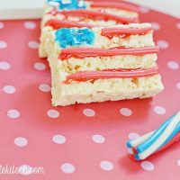 Fourth of July Rice Krispie Treat Flags
