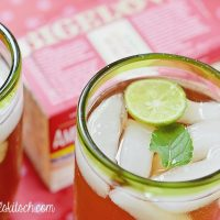 Minty Key Lime Iced Tea