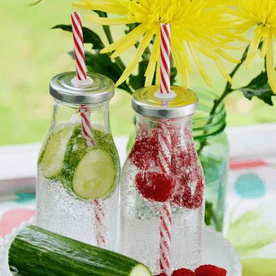 Sparkling Spa Water + Infused Ice Cubes