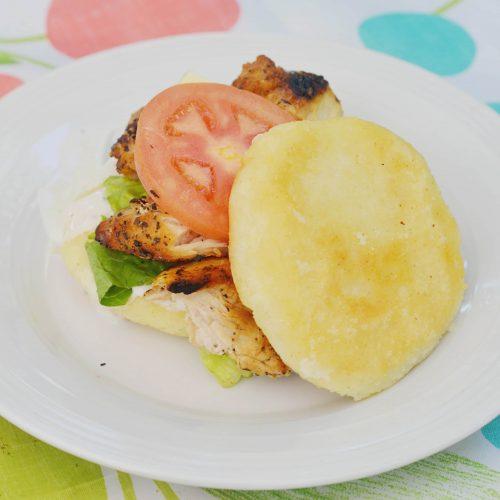 Arepa Chicken Sandwich