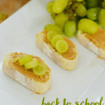 Peanut Butter Bruschetta: Back to School Snacks