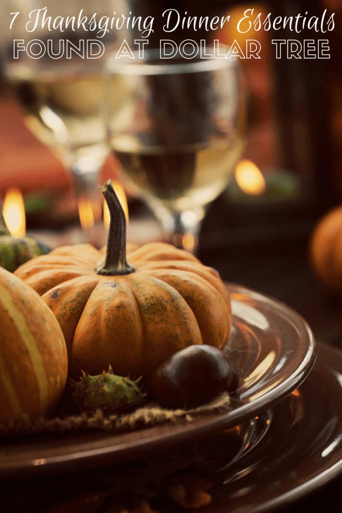 7 Thanksgiving Dinner Essentials Found at Dollar Tree