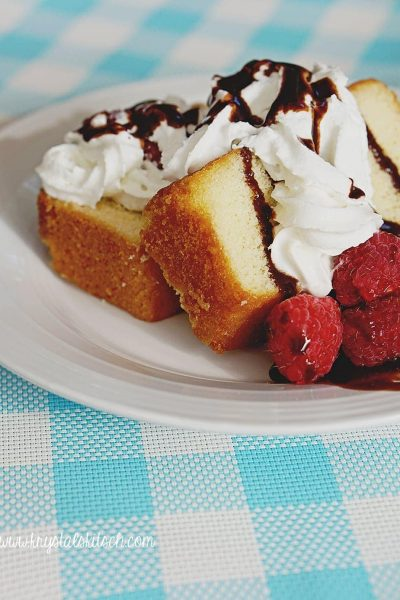 Raspberry Pound Cake Dessert Recipe