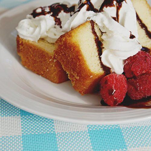 Raspberry Pound Cake Dessert Recipe