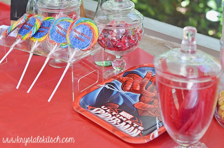 Spiderman Birthday Party Candy Buffet Ideas