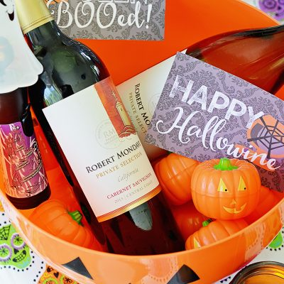 Happy HalloWINE: Sweet Pepper Bruschetta Recipe and Wine Printables