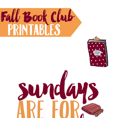 Books and Brews: Fall Book Club Printables and Iced Coffee