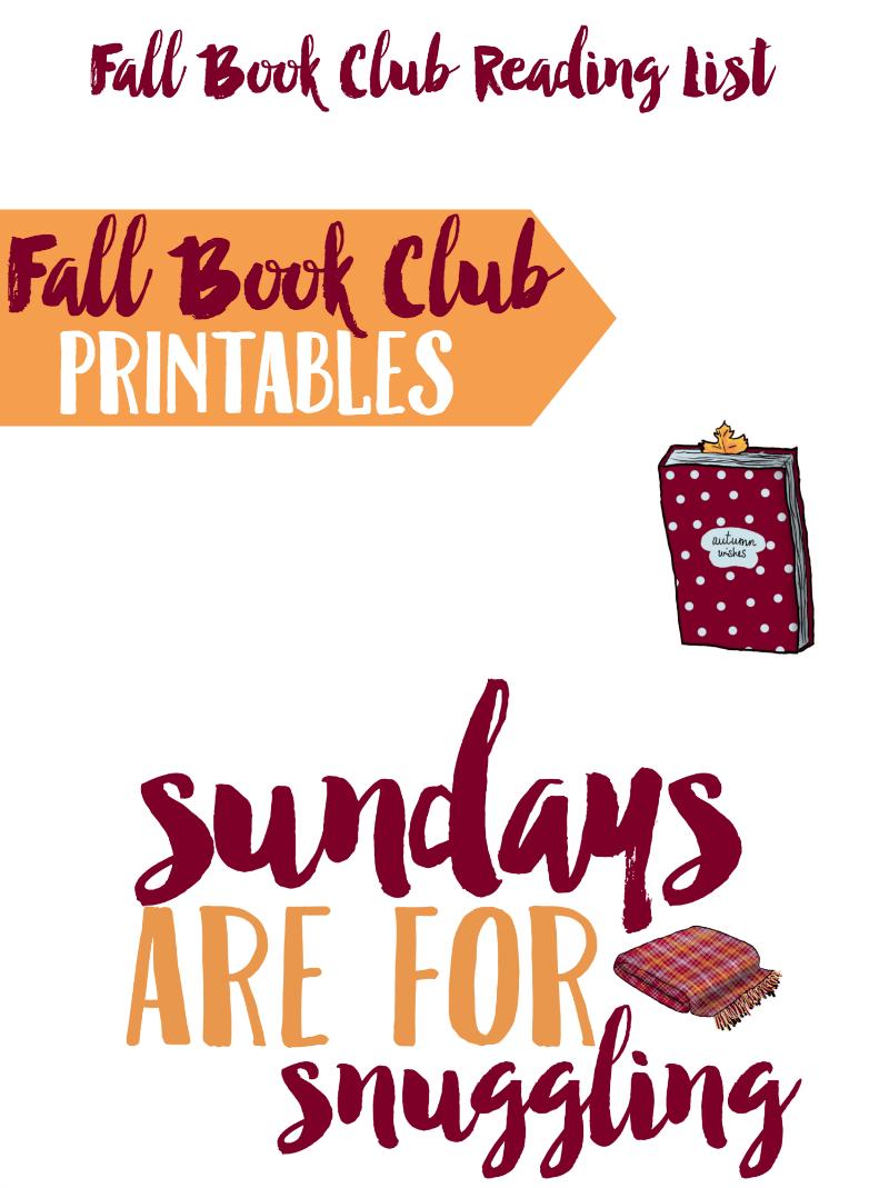 Fall Book Club Printables