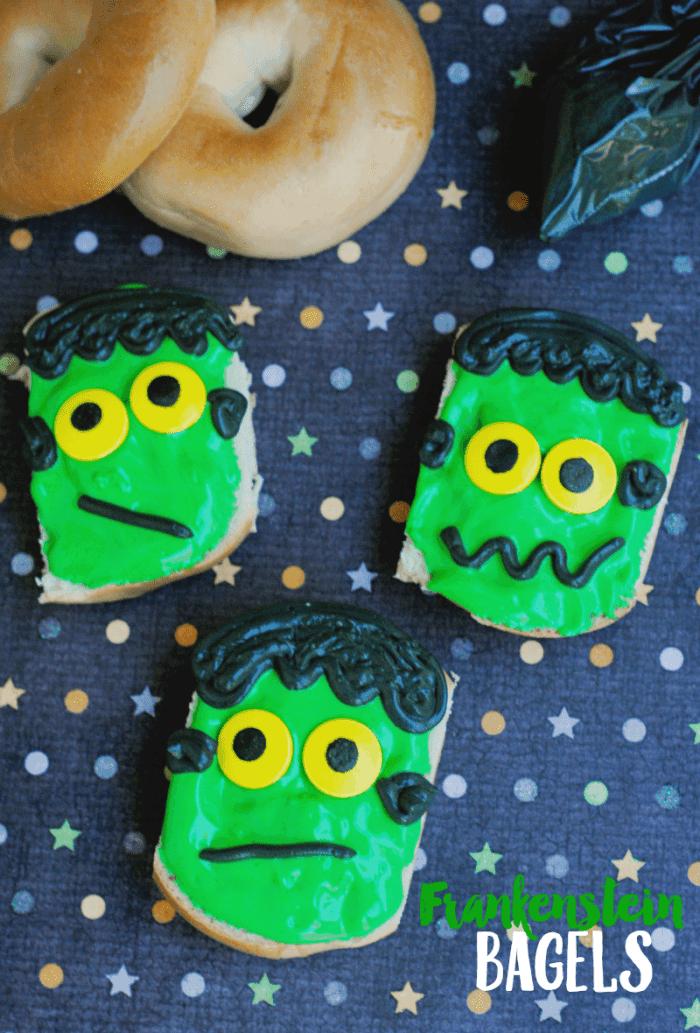 Frankenstein Bagels