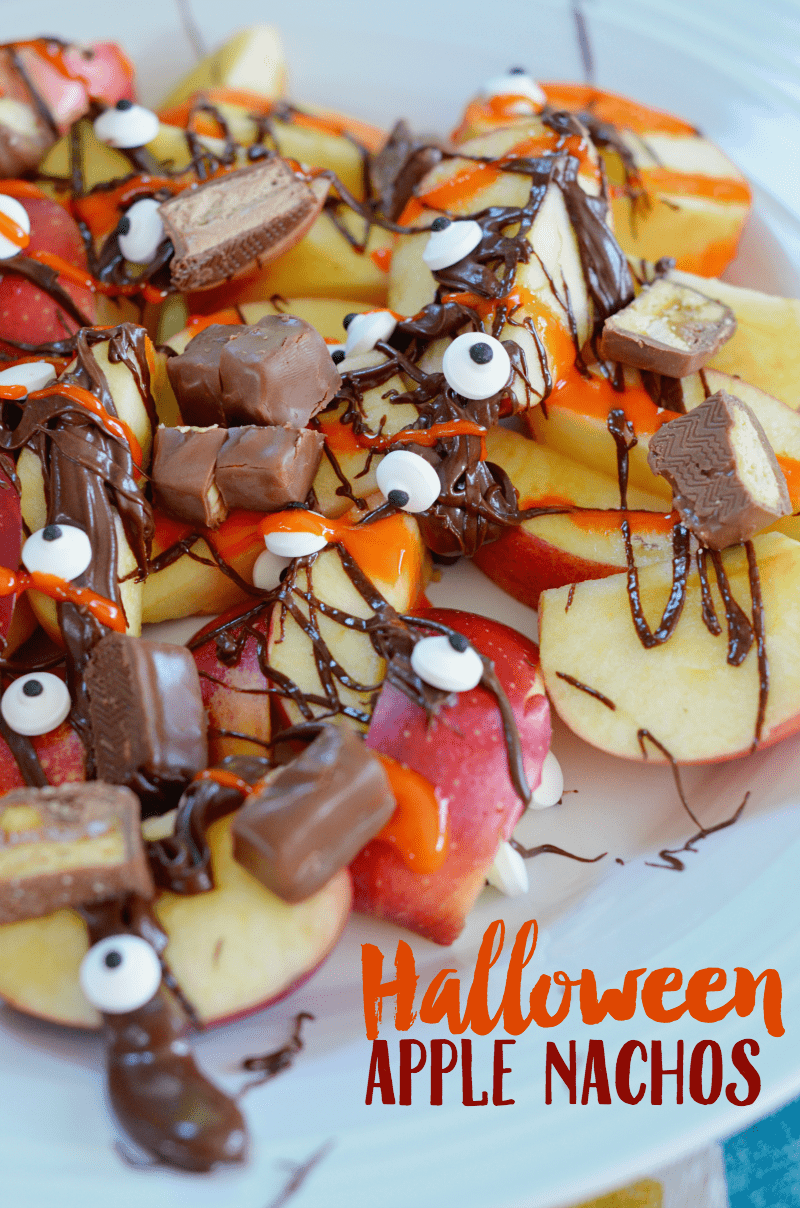 """Halloween Desserts: Apple """"Nachos"""""""