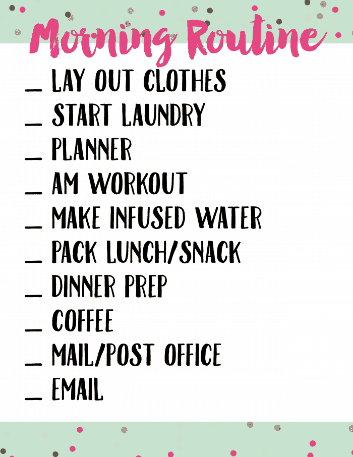 Morning Routine Printable