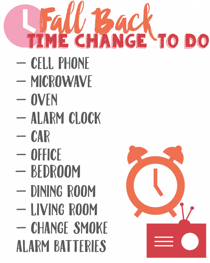 Time Change Printable