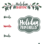 Holiday Shopping Printables