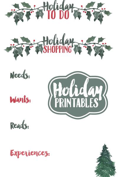 Holiday Printables
