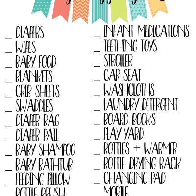 Baby Essentials Checklist