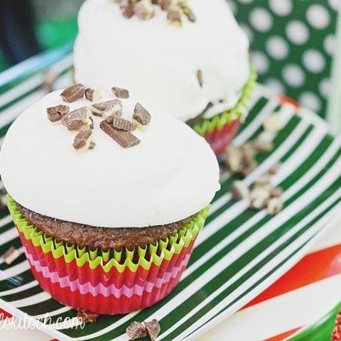 Mint Marshmallow Cupcakes
