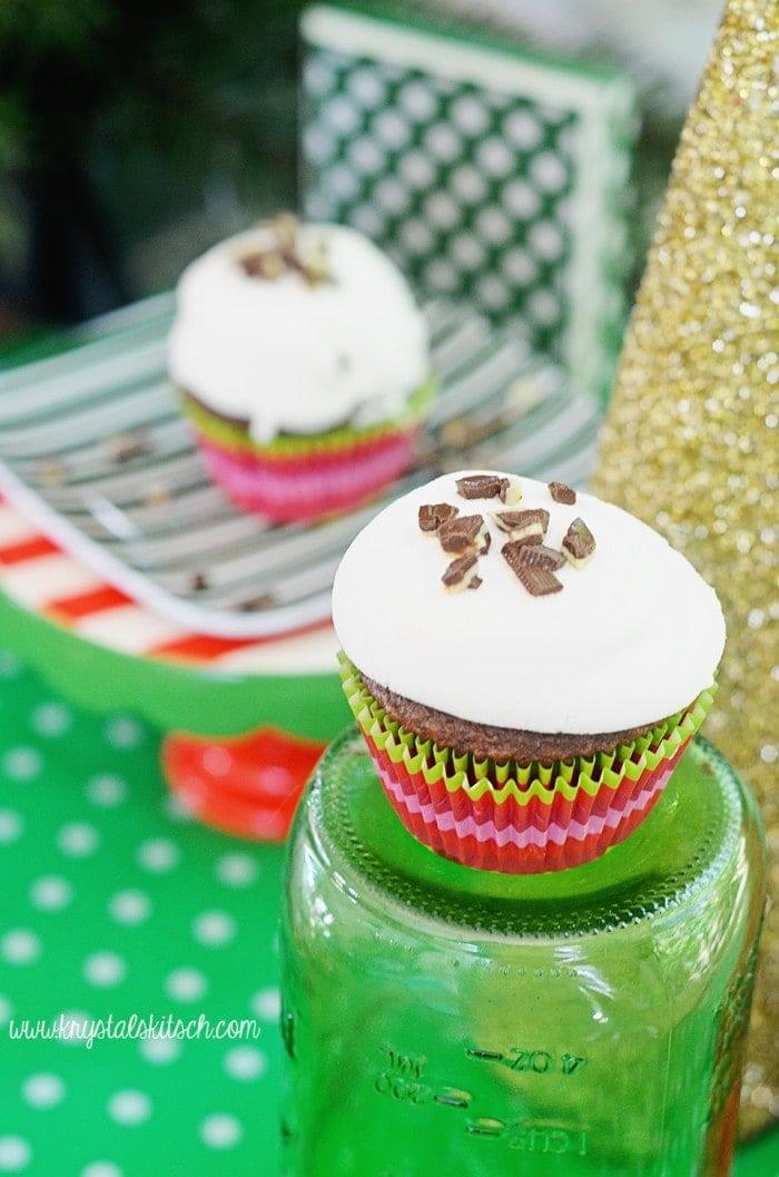 Marshmallow Mint Cupcakes