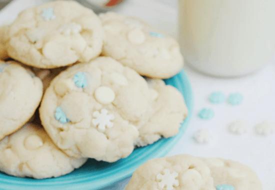 White Chocolate Cake Mix Cookies