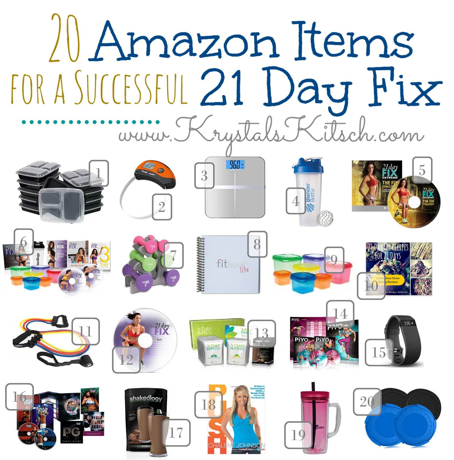 20 Amazon Items For a Successful 21 Day Fix