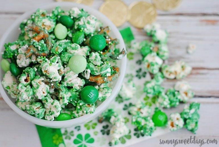 St. Patrick's Day Pretzel Popcorn