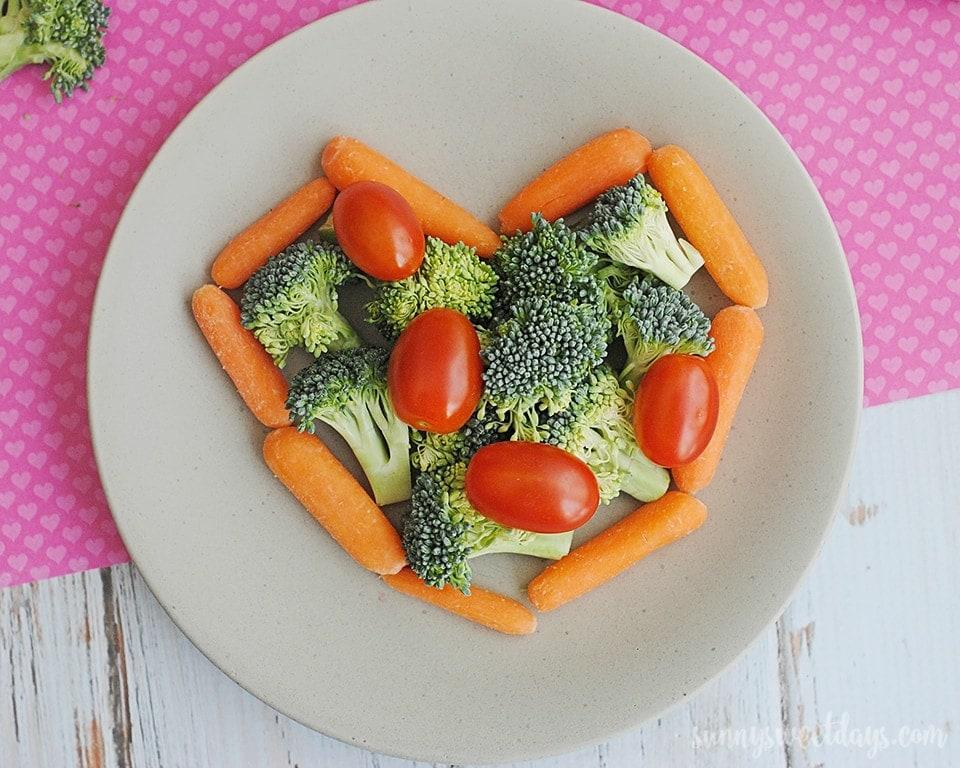 Valentine's Day Vegetable Snack