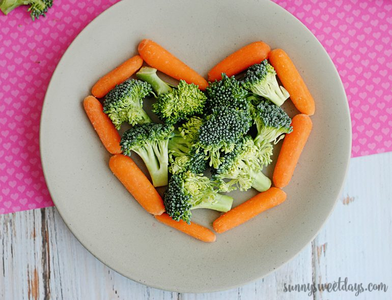 Valentine's Day Vegetable Snack