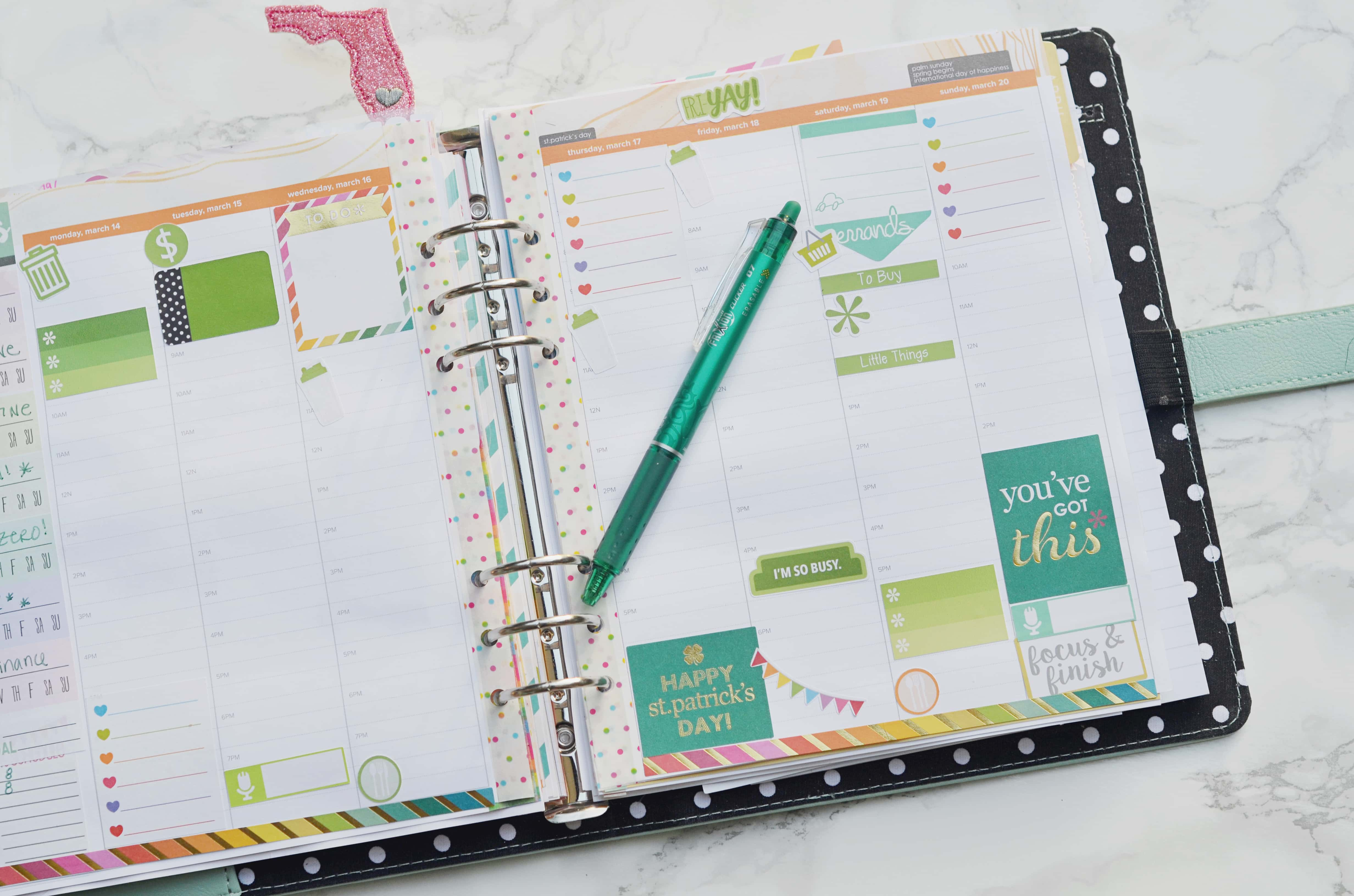 plan with me  erin condren life planner hourly layout