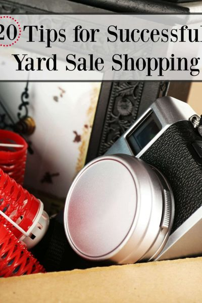 20 Yard Sale Shopping Tips