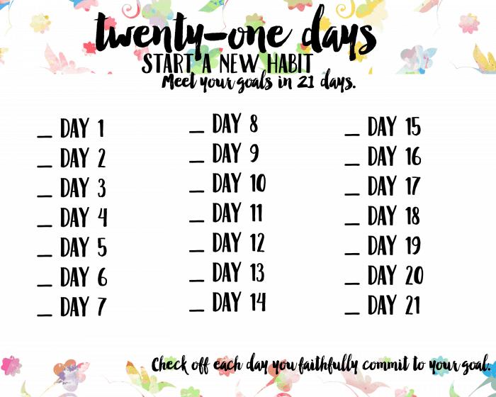 21 Days Goals