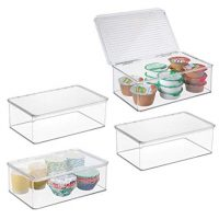mDesign Plastic Stackable Food Storage Container Bin
