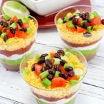 Layered Taco Dip Cups Recipe
