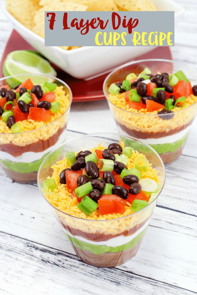7 Layer Dip Cups Recipe